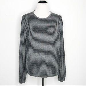 Dries Van Noten Wool Camel Blend Striped Sweater